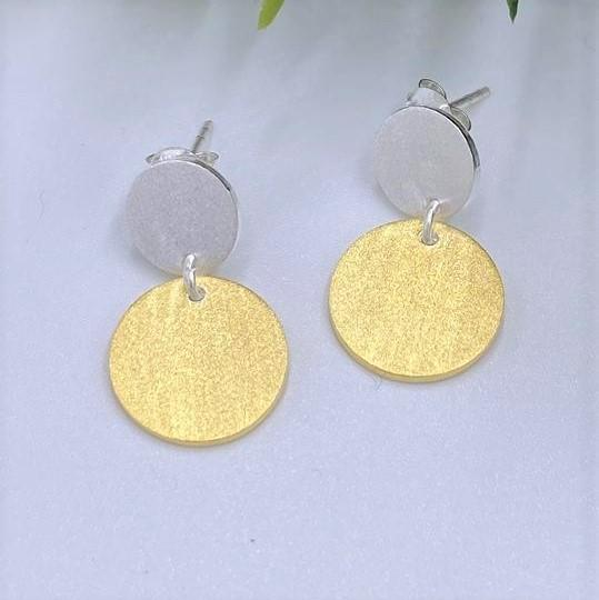Charmz Jewellery Yellow Gold Round Dangle Earrings clothing & accessories Charmz
