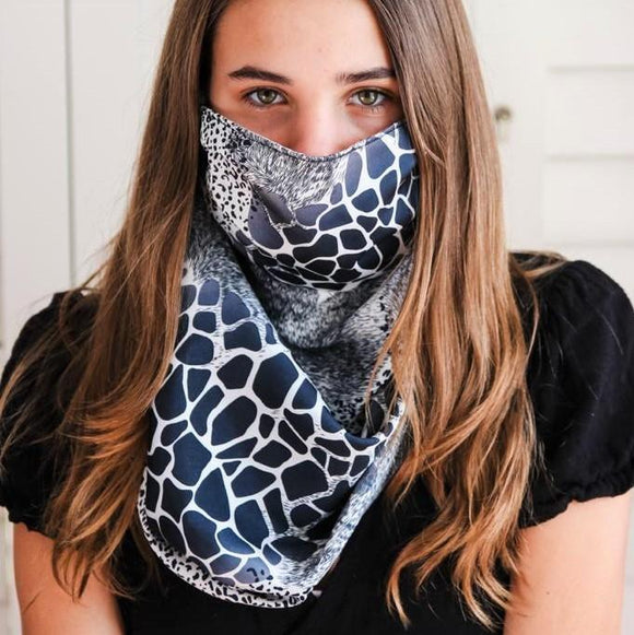 Charmz Mixed Animal Print Snood Face Mask clothing & accessories Charmz
