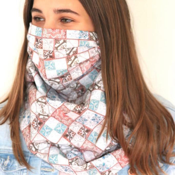 Charmz Mosaic Snood Face Mask clothing & accessories Charmz