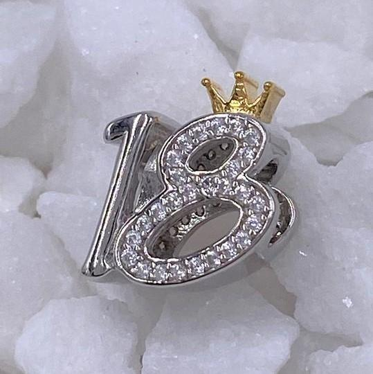 Charmz Sterling Silver 18th Birthday Charm clothing & accessories Charmz