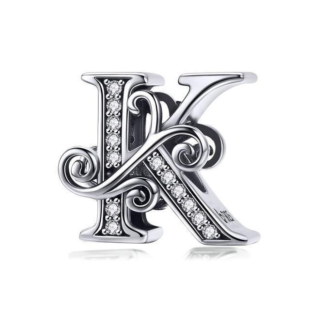 Charmz Sterling Silver Alphabet Charms clothing & accessories Charmz