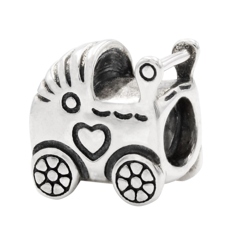 Charmz Sterling Silver Baby Carriage Charm clothing & accessories Charmz