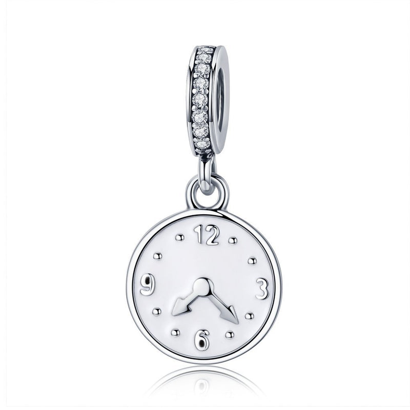 Charmz Sterling Silver Clock Pendant Charm clothing & accessories Charmz