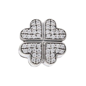 Charmz Sterling Silver Clover Charm Clip & Stopper clothing & accessories Charmz