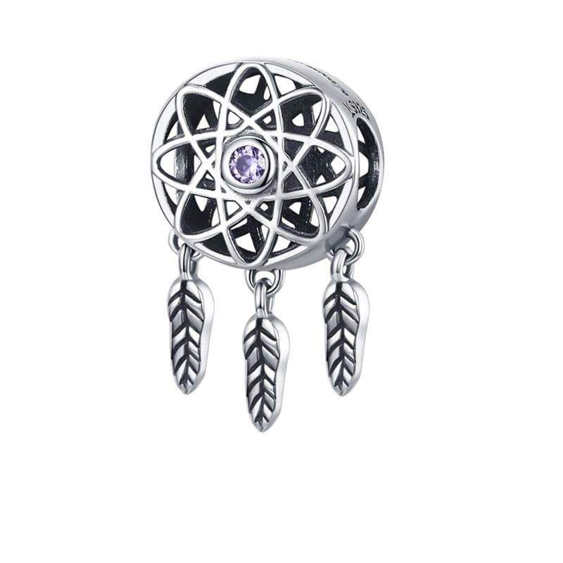 Charmz Sterling Silver Dreamcatcher Charm clothing & accessories Charmz