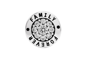 Charmz Sterling Silver Forever Family Charm clothing & accessories Charmz