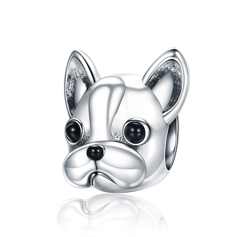 Charmz Sterling Silver French Bulldog Charm clothing & accessories Charmz