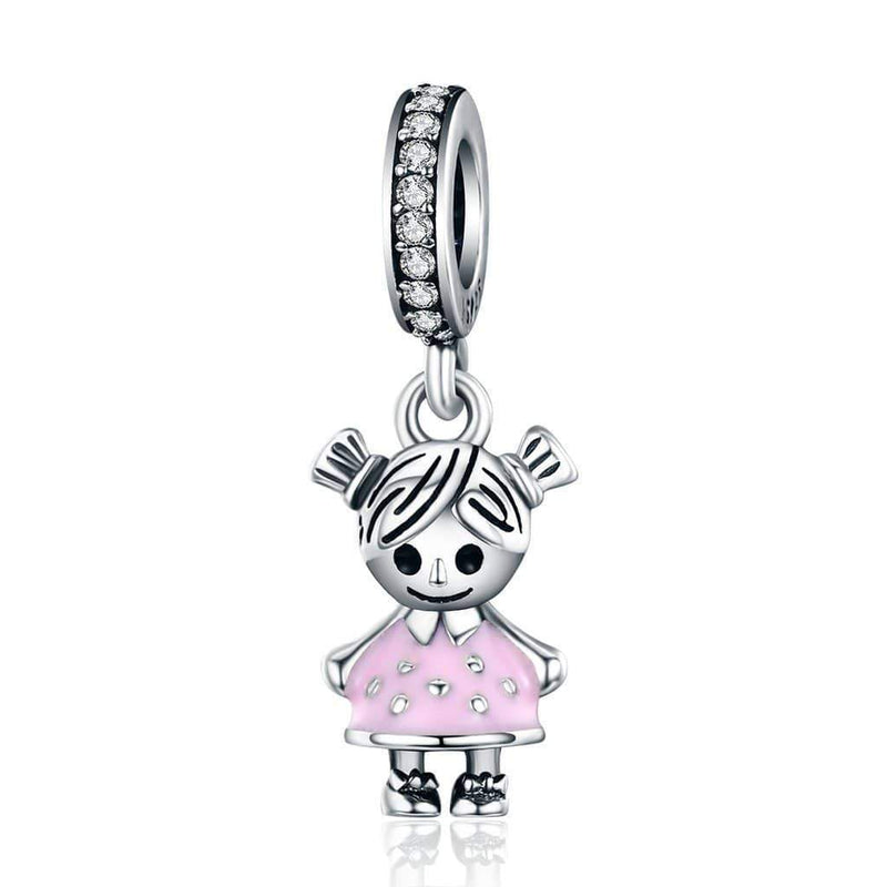 Charmz Sterling Silver Little Girl Pendant Charm clothing & accessories Charmz
