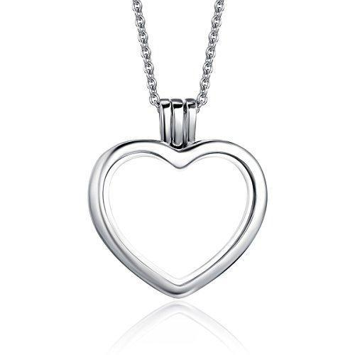 Charmz Sterling Silver Locket Pendant Necklace clothing & accessories Charmz