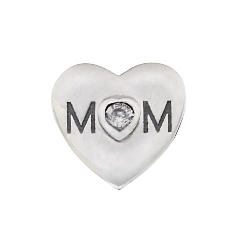 Charmz Sterling Silver Mom Heart Charm clothing & accessories Charmz