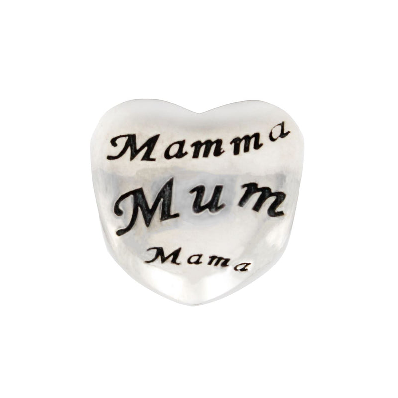 Charmz Sterling Silver Mother Heart Charm clothing & accessories Charmz