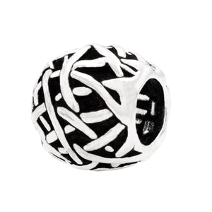 Charmz Sterling Silver Oval Abstract Charm clothing & accessories Charmz