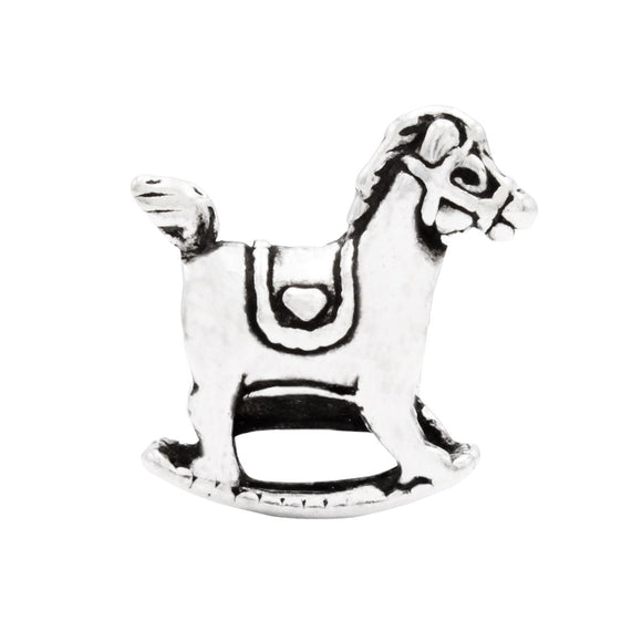 Charmz Sterling Silver Rocking Horse Charm clothing & accessories Charmz