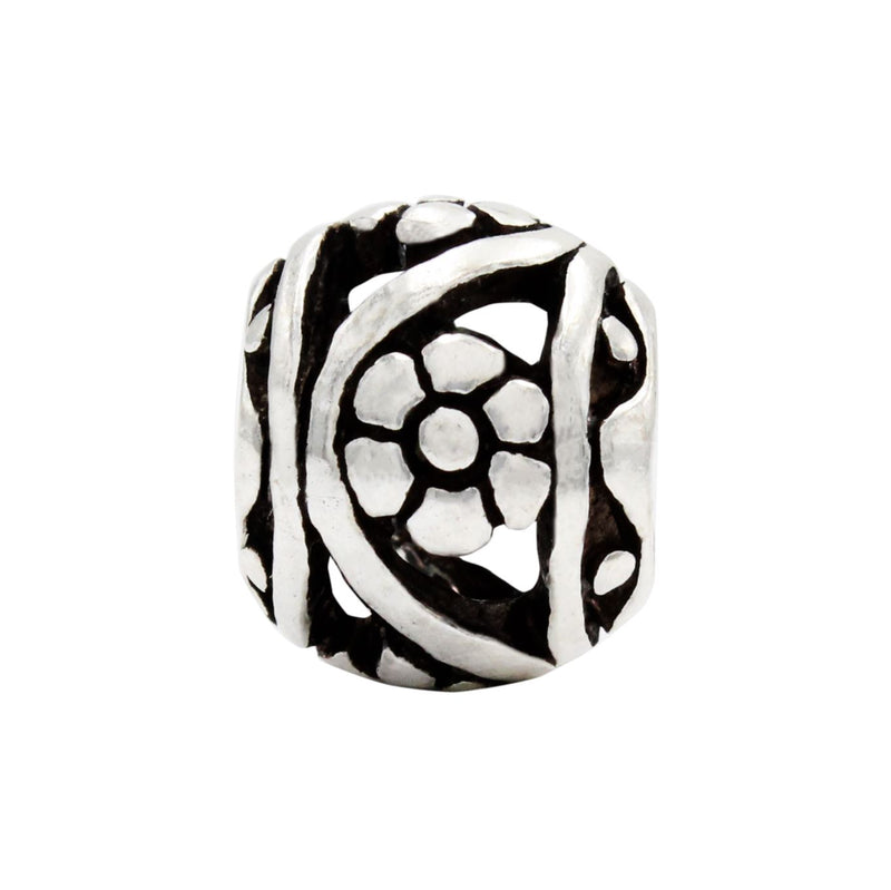 Charmz Sterling Silver Round Daisy Charm clothing & accessories Charmz