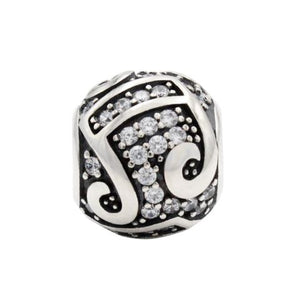 Charmz Sterling Silver Round Music Melody Charm clothing & accessories Charmz