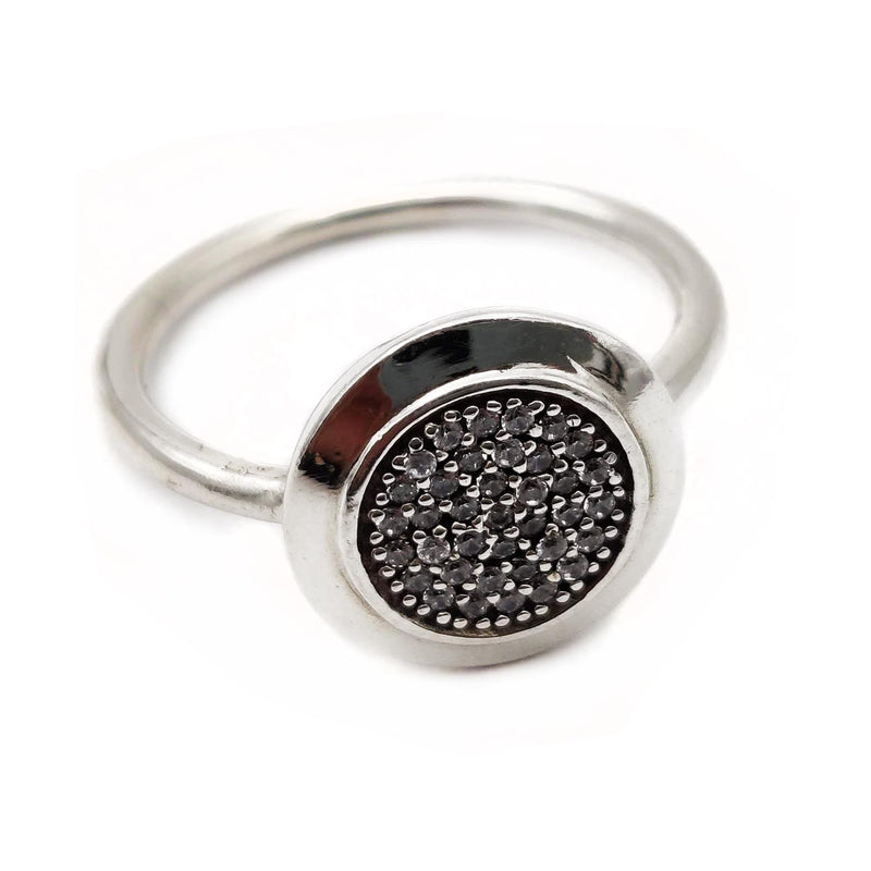 Charmz Sterling Silver Round Ring clothing & accessories Charmz