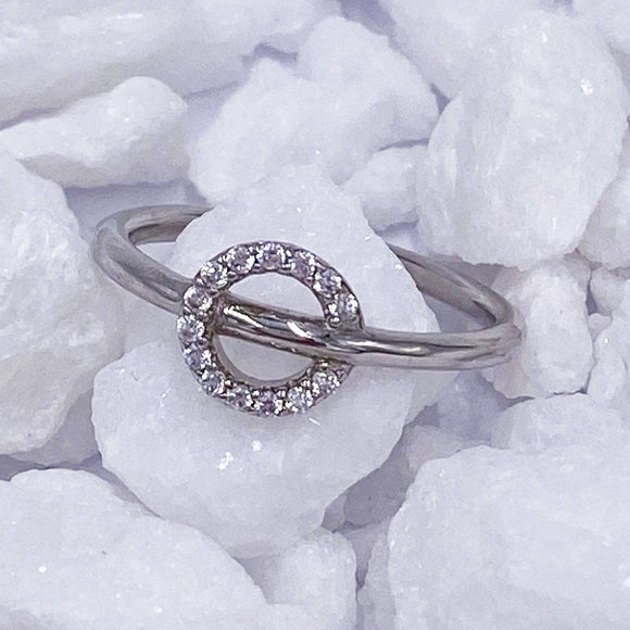 Charmz Sterling Silver Stackable Circle Ring clothing & accessories Charmz