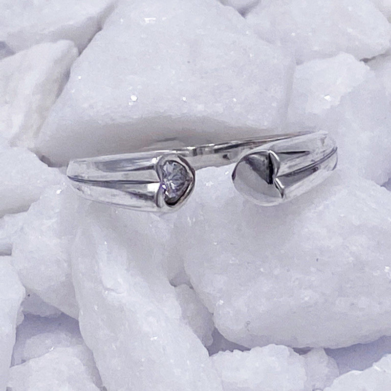 Charmz Sterling Silver Sweetheart Ring clothing & accessories Charmz