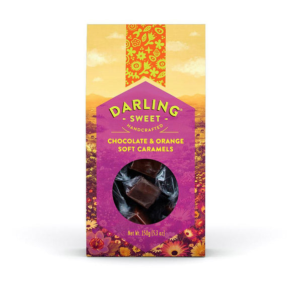 Darling Sweet Chocolate & Orange Soft Caramels food Darling Sweet