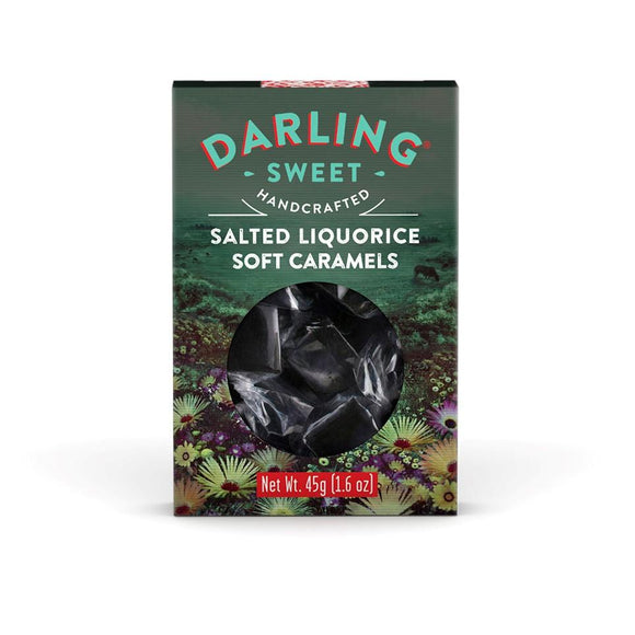 Darling Sweet Salted Liquorice Soft Caramels 45g food Darling Sweet