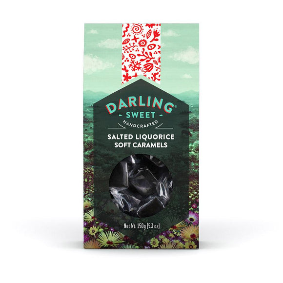 Darling Sweet Salted Liquorice Soft Caramels food Darling Sweet