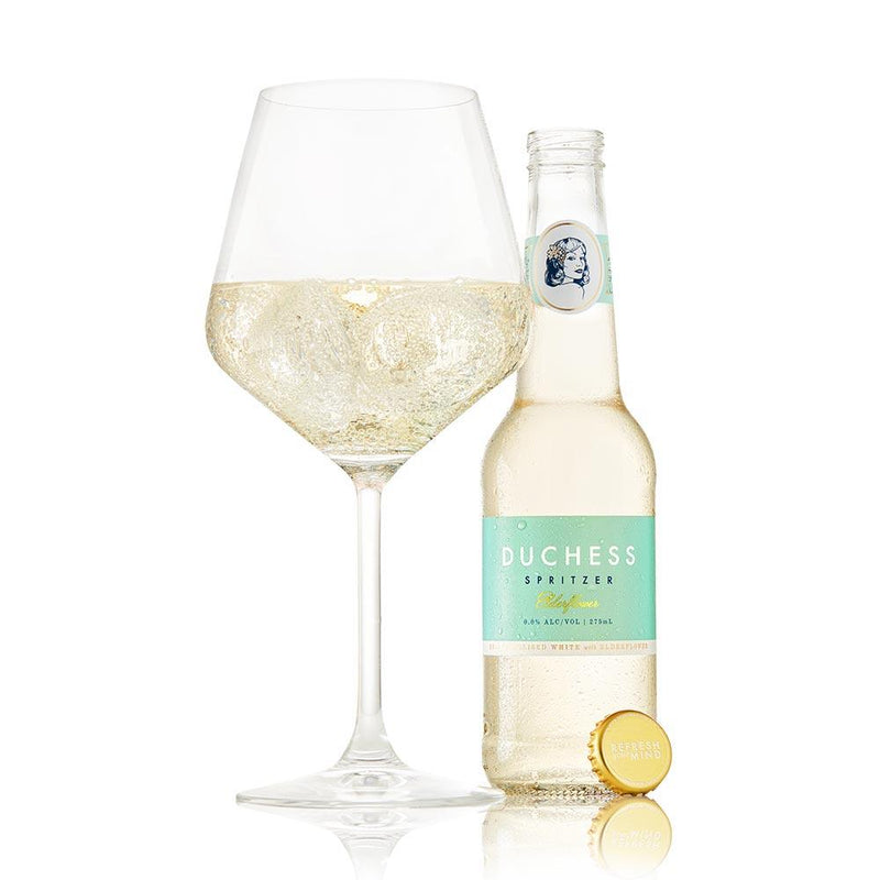 Duchess Elderflower White Alcohol-Free Wine Spritz food The Duchess