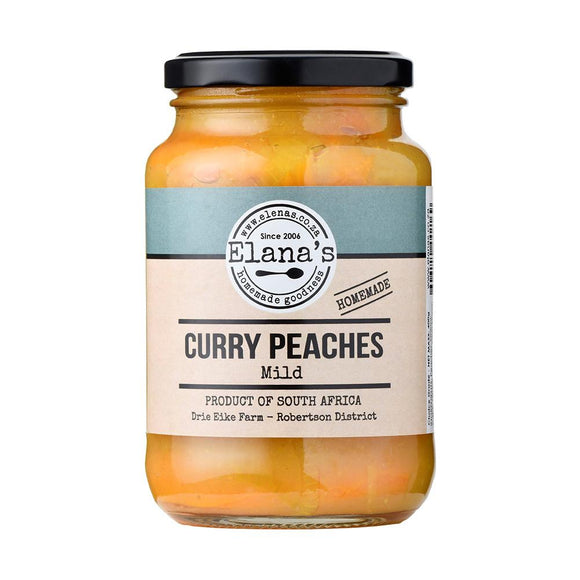 Elana's Homemade Mild Curry Peaches 375ml food Elana's