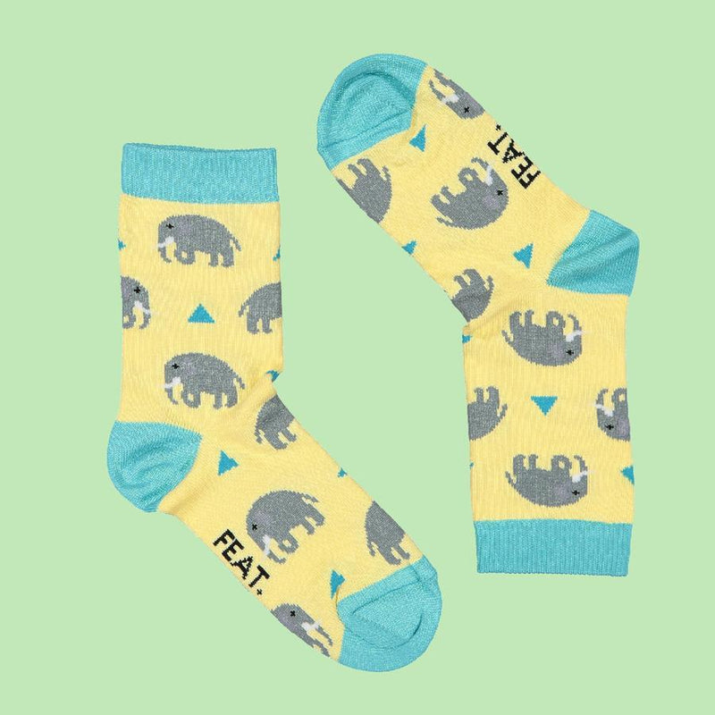 FEAT Sock Co. Kid's Elephant Socks baby & kids FEAT Sock Co.
