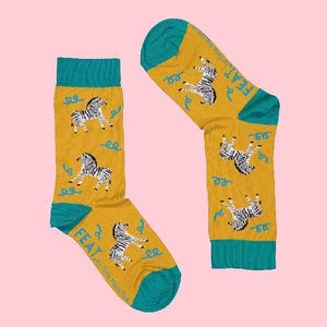 FEAT Sock Co. Ladies' Dancing Zebra Socks clothing & accessories FEAT Sock Co.