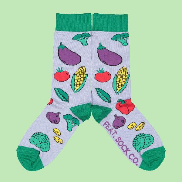 FEAT Sock Co. Ladies' Winter Veggies Socks clothing & accessories FEAT Sock Co.