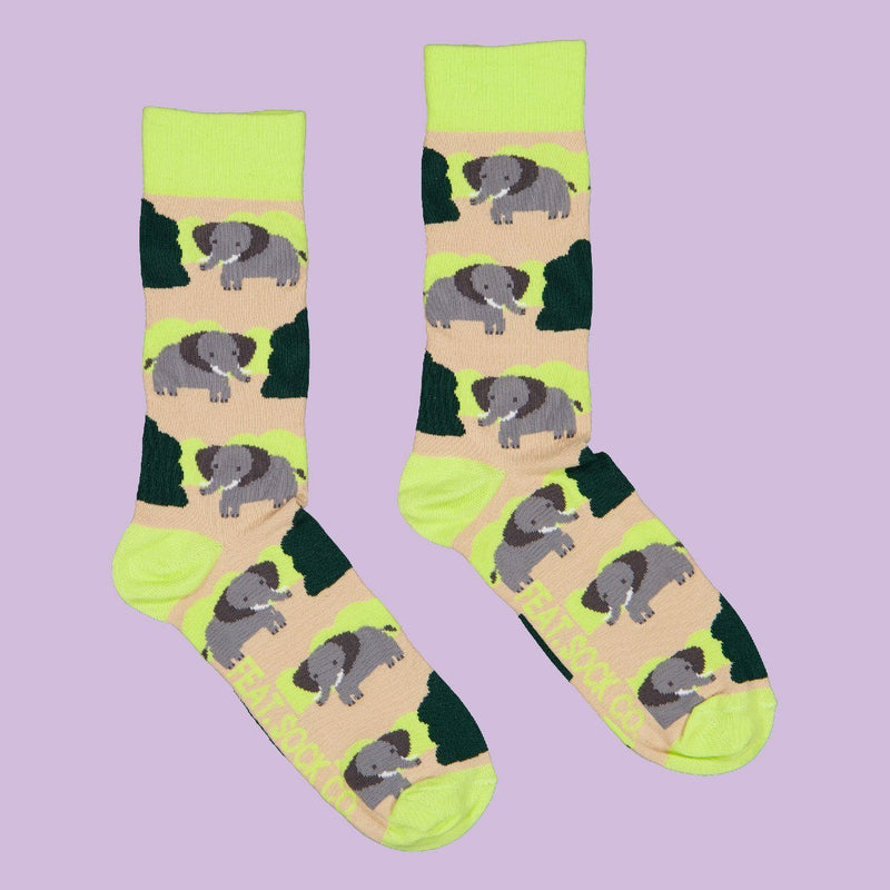 FEAT Sock Co. Men's Bushveld Elephant Socks clothing & accessories FEAT Sock Co.