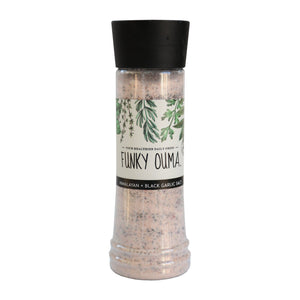 Funky Ouma Black Garlic Salt Grinder 325ml food Funky Ouma