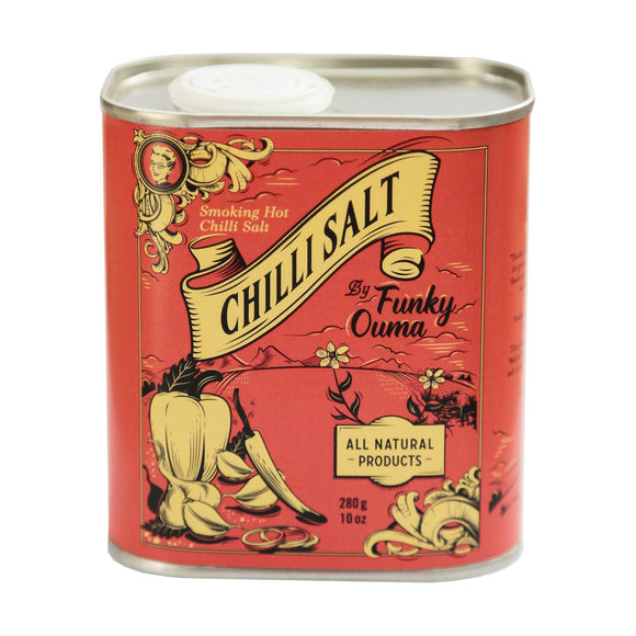 Funky Ouma Chilli Salt Tin 250ml food Funky Ouma