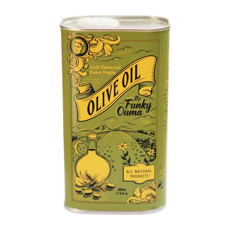 Funky Ouma Extra Virgin Olive Oil Tin 500ml food Funky Ouma