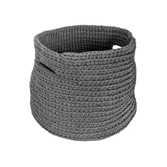 H18 Charcoal Cotton Crochet Basket home & decor H18 Foundation