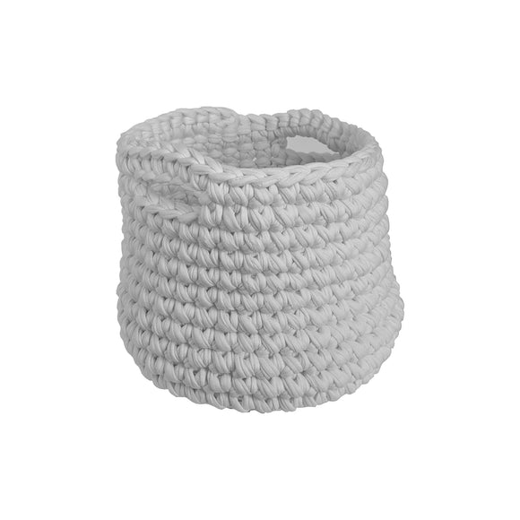 H18 Cotton Light Grey Crochet Planter home & decor H18 Foundation