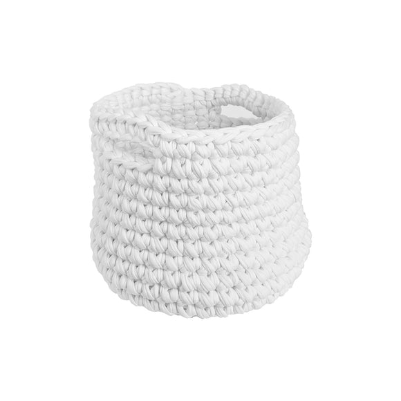 H18 Cotton White Crochet Planter home & decor H18 Foundation