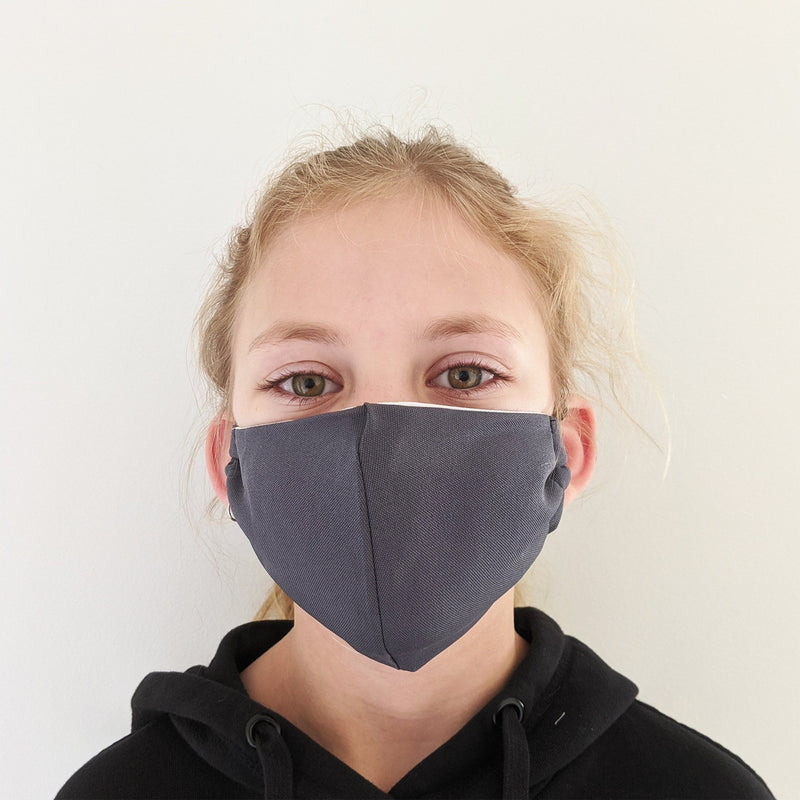 H18 Fabric Two Layer Face Masks clothing & accessories H18 Foundation A-grey