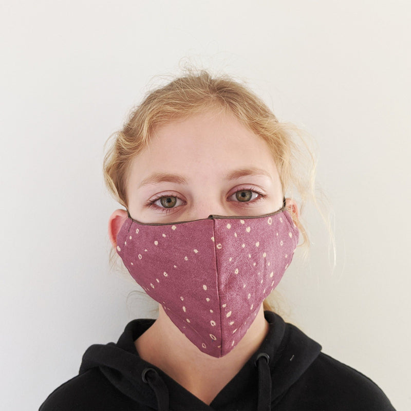 H18 Fabric Two Layer Face Masks clothing & accessories H18 Foundation B-mauve pattern