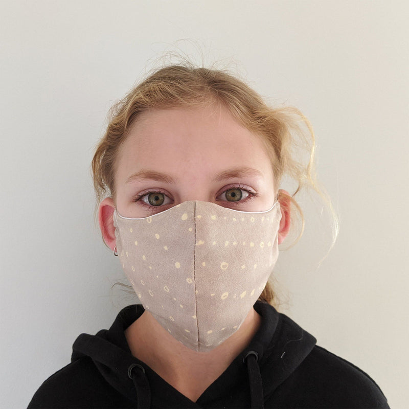 H18 Fabric Two Layer Face Masks clothing & accessories H18 Foundation C-sand pattern
