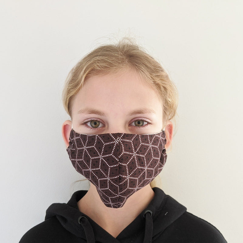 H18 Fabric Two Layer Face Masks clothing & accessories H18 Foundation E-brown pattern