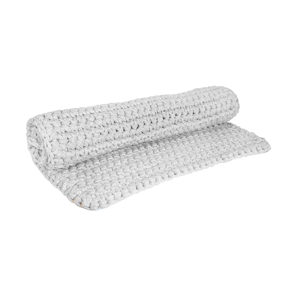 H18 Light Grey Cotton Crochet Bathmat home & decor H18 Foundation