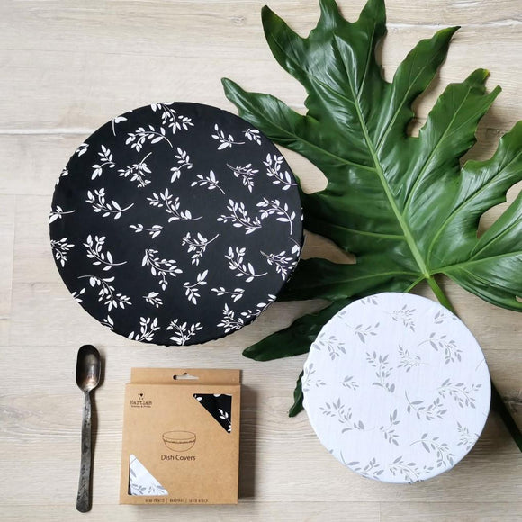 Hartlam Textiles Dish Cover Sets home & decor Hartlam Textiles & Prints black & white cuttings
