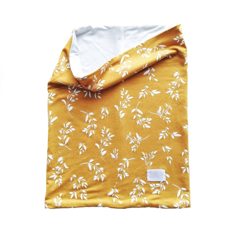 Hartlam Textiles Double Sided Mustard Face Cover clothing & accessories Hartlam Textiles & Prints