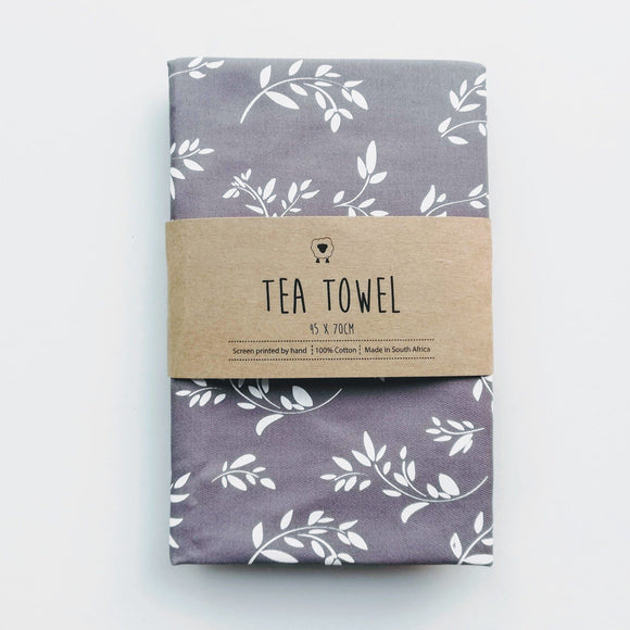 Hartlam Textiles Grey Cuttings Cotton Tea Towel home & decor Hartlam Textiles & Prints