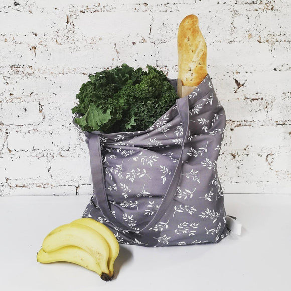 Hartlam Textiles Grey Cuttings Foldable Shopper Bag home & decor Hartlam Textiles & Prints