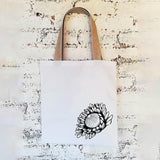 Hartlam Textiles Protea Shopper Bag home & decor Hartlam Textiles & Prints white