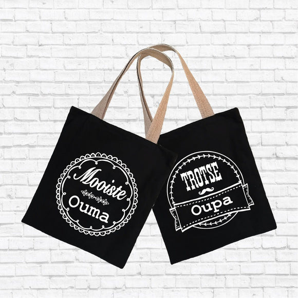 Hartlam Textiles Shopper Bag Set home & decor Hartlam Textiles & Prints black