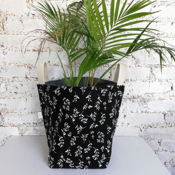 Hartlam Textiles Storage Baskets & Planters home & decor Hartlam Textiles & Prints black cuttings