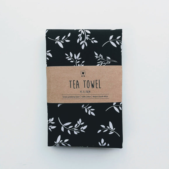 Hartlam Textiles Tea Towels home & decor Hartlam Textiles & Prints black cuttings